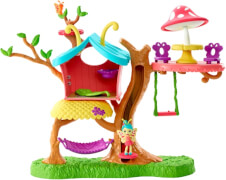 Mattel GBX08 Enchantimals Blütenpark Schmetterling-Spielhaus