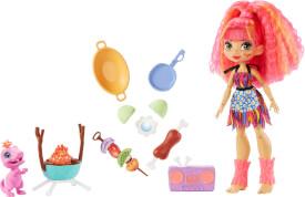 Mattel GNL96 Cave Club Wilder Grillspaß mit Emberly Spielset & Puppe