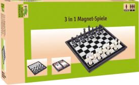 Natural Games 3-in-1 Magnetspiel, Reise & Kompaktspiel, für 2 Spieler, ca. 32x16x4 cm, ab 6 Jahren