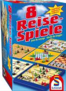 Schmidt Spiele 49102 8 Reise-Spiele magnetisch, 1 bis 4 Spieler, ab 6 Jahre