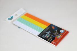 3DOODLER Refill 24 Stäbchen in den Farben weiß, mint, gelb, orange