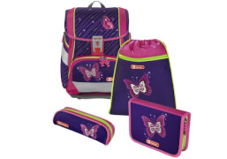 Step by Step Schulranzen-Set 2in1 Shiny Butterfly, 4-teilig