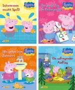 Nelson-Minibücher,Peppa 1-4, sortiert in Schachtel, sie bekommen nur ein Buch (nicht frei wählbar) 20 Seiten, für Kinder ab 3
