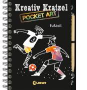 Loewe Kreativ-Kratzelbuch Pocket Fußball